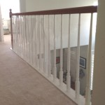 Rolled Plastic Banister Safety Shield