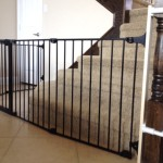 Custom bottom of stairs sectional toddler safety gate