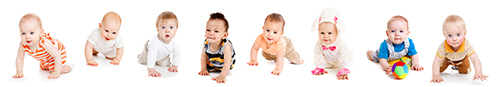 bigstock-Group-of-eight-babies-crawlin-20877338