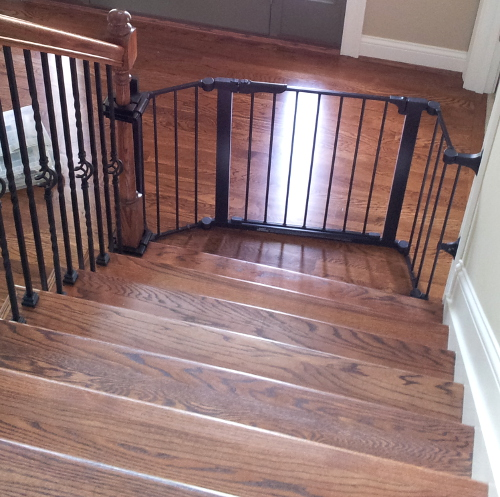 Custom Gate Placed At The Bottom Of The Stairs As To Not Block The Entrance  To The Study Or To Interfere With The Front Door Opposite The Stairway.