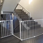 Irregular shape custom baby gate for stainless stairs