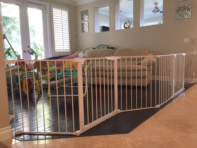 Large custom baby safety play room gate baby safe homes for Creating a playroom