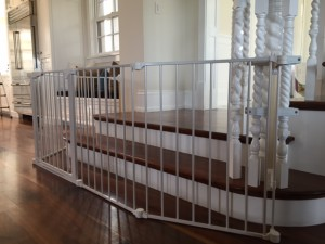 Large Custom Baby Gate for Bottom of Stairs in Coto de Caza