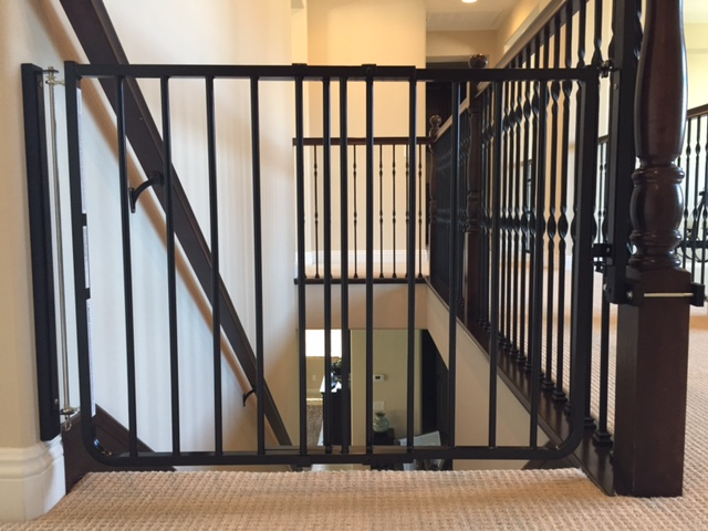 Black Child Safety Stair Gate Installation Baby Safe Homes