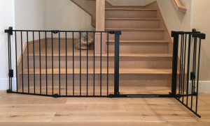 Baby Safe Homes Extra Large Black Child Safety Gate For