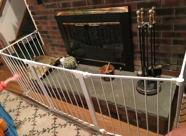 Baby Safety and Fireplace Safety Gate Installation in Fairfield Connecticut. Baby proofing installation of baby gate