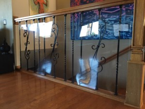 Stair baluster plexi glass