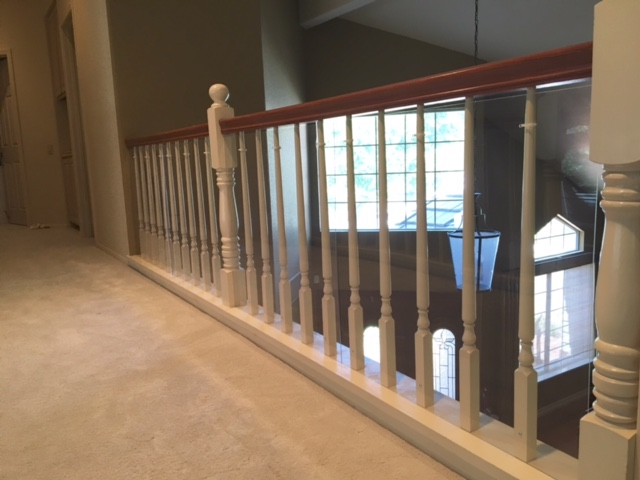 Custom Plexiglas place on baluster protects your baby from dangerous falls