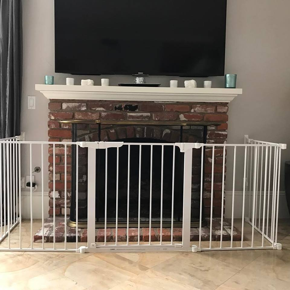 Child safety gates that are firmly fixed to the wall
