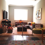 Large sectional baby gate for play room
