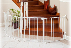Custom Sectional Gate for Bottom of Stairs