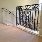 Extra Wide top of stair sectional baby gate