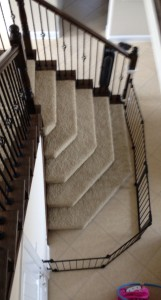 Large oversize baby gate for bottom of stairs