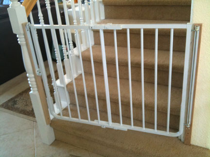 Some Examples Of Our Mounted Baby Gates Angle Mount Bottom Stairs