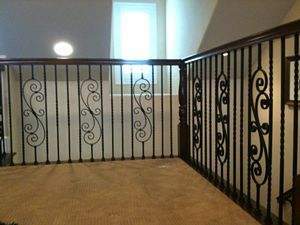 Toddler Safety for Decorative Iron Stair Banisters