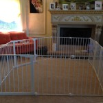 Large custom play area gate for baby and toddler