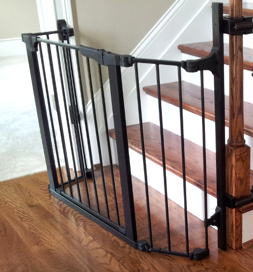 Custom Gate Placed At The Bottom Of Stairs As To Not Block Entrance Study Or Interfere With Front Door Opposite Stairway