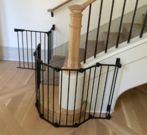 Large wrap around stairs baby safety gate