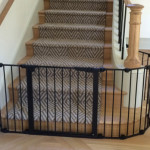 Custom black bottom of stairs sectional baby gate