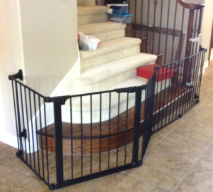 Extra Large Custom Bottom of Stairs Baby Gate