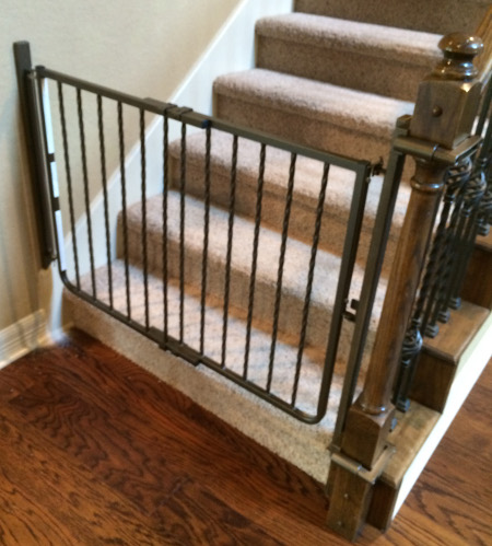 Custom Baby Gate Installation and Color Match | Austin ...