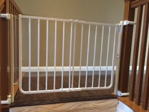 Top of Stairs Baby Gate with No Holes Banister Kit