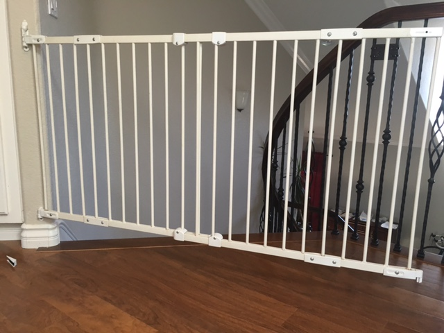 Improperly installed baby gate