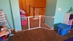 Baby gate installed in Phoenix, Arizona by Baby Safe Homes