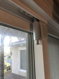 Child safety patio deck sliding door lock