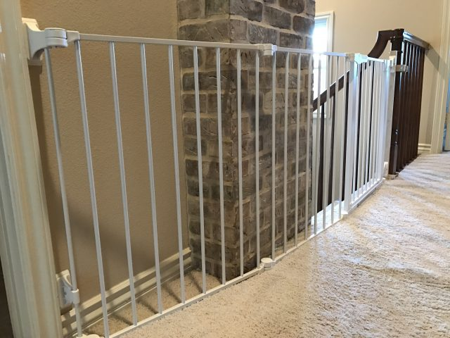 Extra wide large top of stairs child safety gate