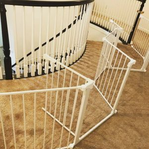 Extra wide child safety gate by Baby Safe Homes San Diego