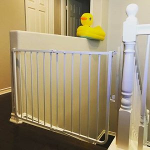 Baby Gate for top of stairs installed in Temecula, CA by Baby Safe Homes