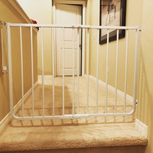 child safety gate for top of stairs.