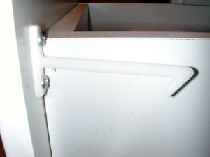 Custom Side Latch for Frame-less Cabinets