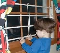 Childproof window screen